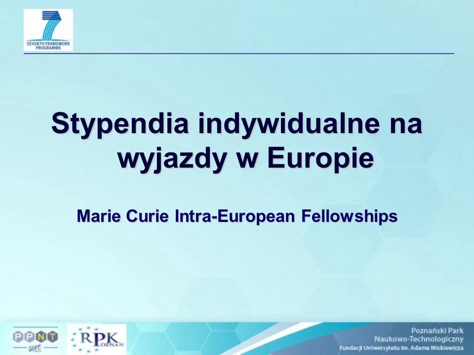 Stypendia na wyjazdy poza Europę Marie Curie International Outgoing Fellowships