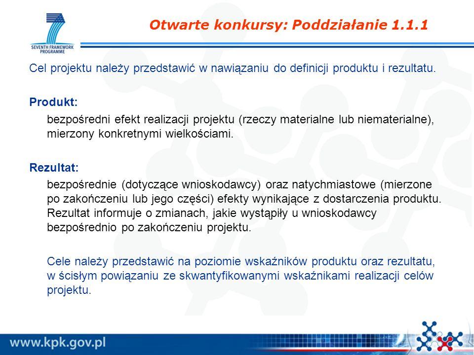 Cel projektu należy przedstawić w nawiązaniu do definicji produktu i rezultatu. Produkt: bezpośredni efekt realizacji projektu (rzeczy materialne lub