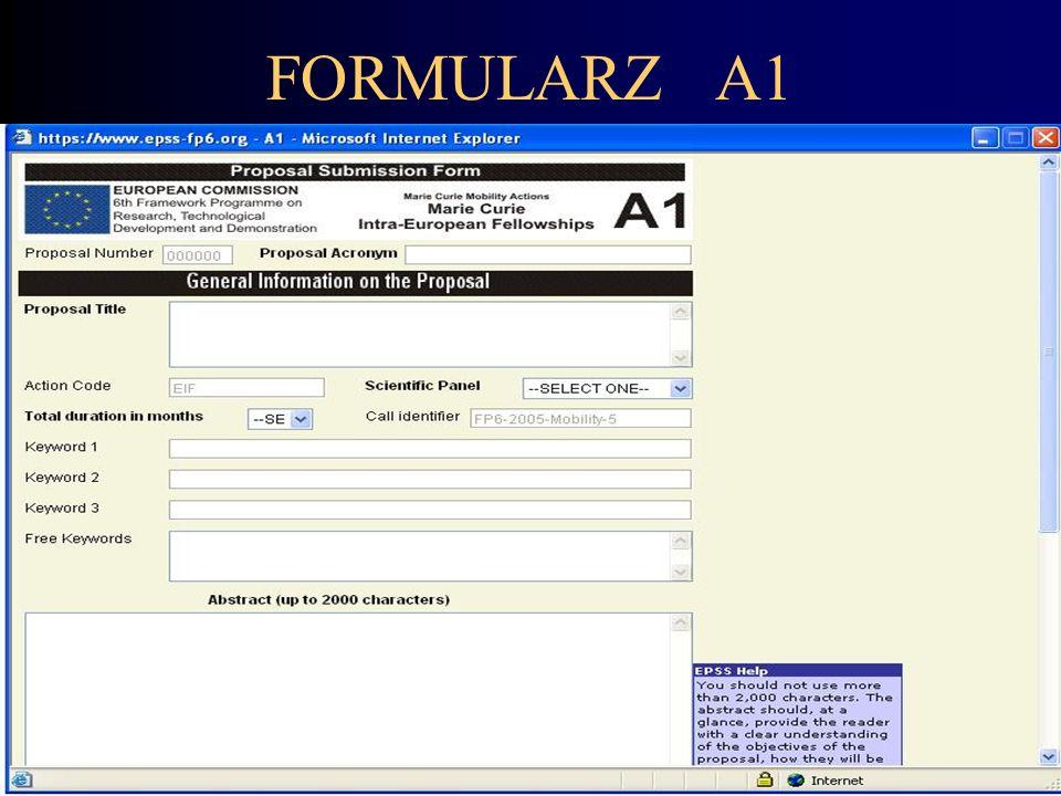 FORMULARZ A1