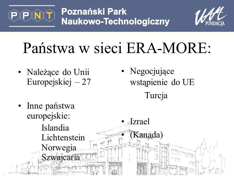 Państwa w sieci ERA-MORE: Należące do Unii Europejskiej – 27 Inne państwa europejskie: Islandia Lichtenstein Norwegia Szwajcaria Negocjujące wstąpienie do UE Turcja Izrael (Kanada)
