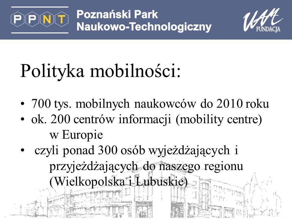 Polityka mobilności: 700 tys.mobilnych naukowców do 2010 roku ok.
