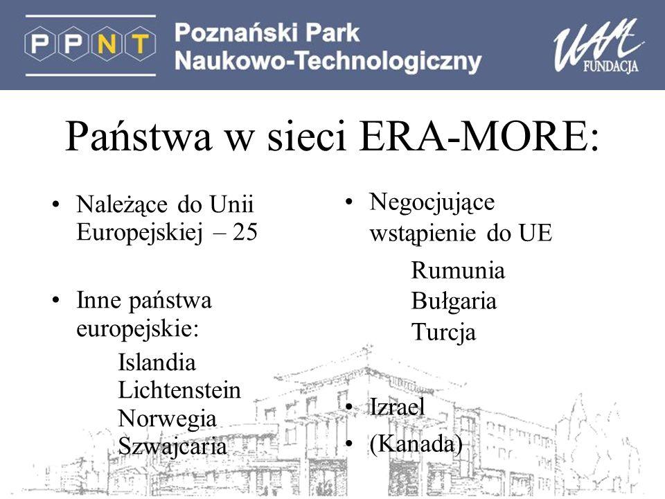 Państwa w sieci ERA-MORE: Należące do Unii Europejskiej – 25 Inne państwa europejskie: Islandia Lichtenstein Norwegia Szwajcaria Negocjujące wstąpienie do UE Rumunia Bułgaria Turcja Izrael (Kanada)