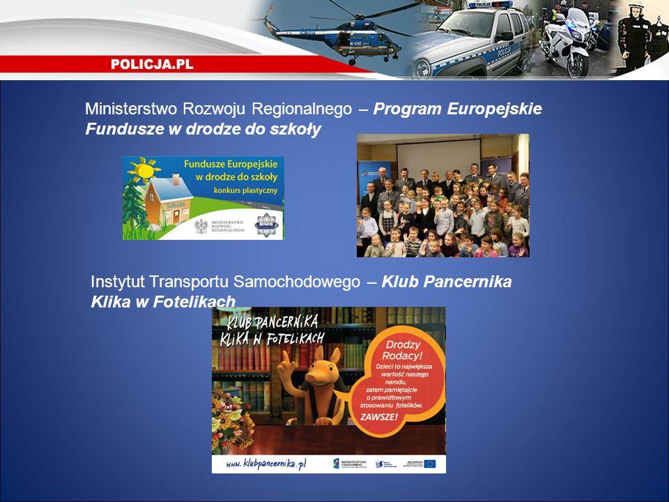 Ministerstwo Rozwoju Regionalnego – Program Europejskie Fundusze w drodze do szkoły Instytut Transportu Samochodowego – Klub Pancernika Klika w Foteli