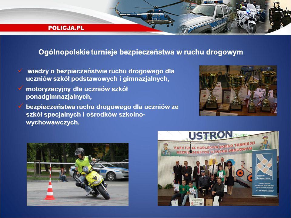Ogólnopolskie turnieje bezpieczeństwa w ruchu drogowym wiedzy o bezpieczeństwie ruchu drogowego dla uczniów szkół podstawowych i gimnazjalnych, motory