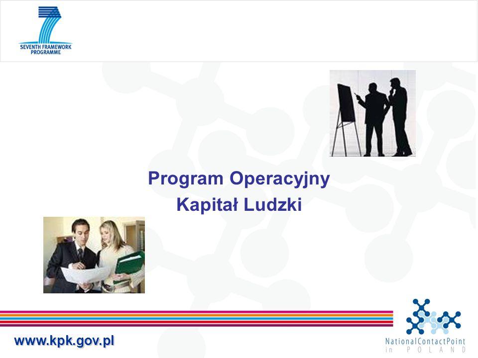 www.kpk.gov.pl Program Operacyjny Kapitał Ludzki