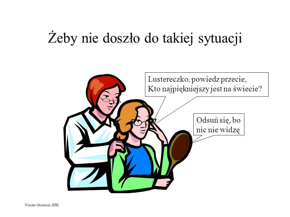 Wiesław Studencki, KPK Żeby nie doszło do takiej sytuacji Lustereczko, powiedz przecie, Kto najpiękniejszy jest na świecie.