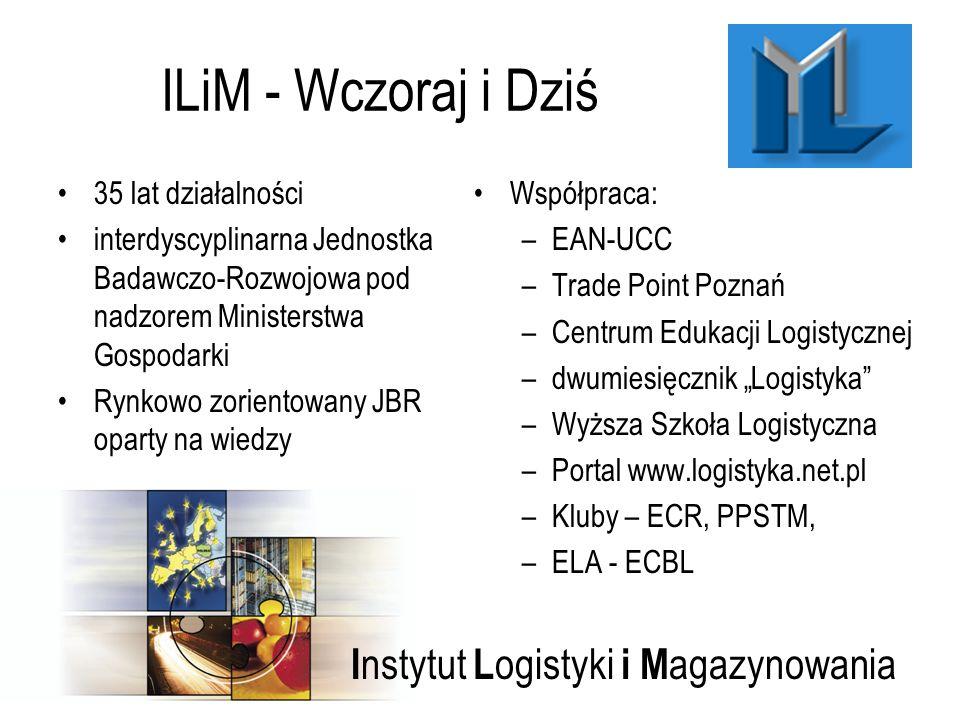 I nstytut L ogistyki i M agazynowania ILiM - Wczoraj i Dziś 35 lat działalności interdyscyplinarna Jednostka Badawczo-Rozwojowa pod nadzorem Ministers
