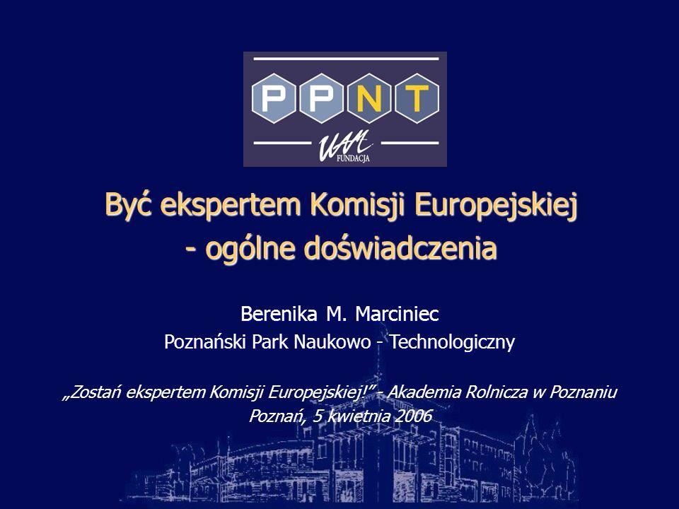 Być ekspertem Komisji Europejskiej - ogólne doświadczenia Berenika M.