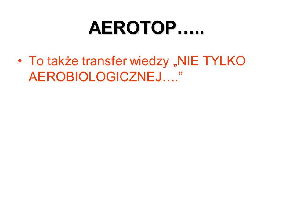AEROTOP….. To także transfer wiedzy NIE TYLKO AEROBIOLOGICZNEJ….