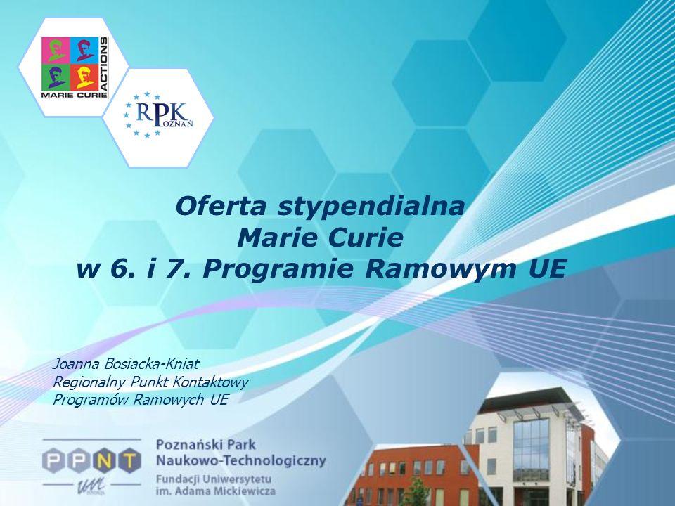 Oferta stypendialna Marie Curie w 6. i 7.