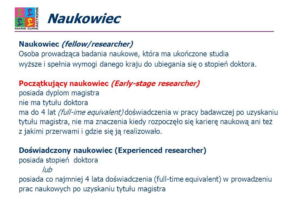 Cel akcji: Wsparcie dla instytucji oferujących wspólne programy szkoleniowe dla początkujących naukowców (np.