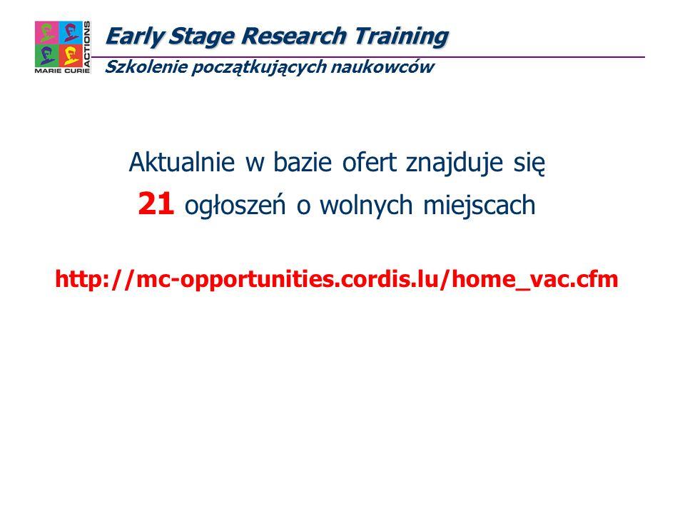 Research Training Network Research Training Network Sieci badawczo – szkoleniowe Cel akcji: Konsorcjum międzynarodowych zespołów współpracujących w ramach zdefiniowanego projektu badawczego, promocja wielo- dyscyplinarnych i/lub między-sektorowych projektów Opracowanie i realizacja programów szkoleniowych: - kursy i seminaria, także np.: na temat zarządzania nauką czy też wykorzystywania wyników badań, - program opieki merytorycznej (programme for mentoring) - transfer wiedzy oraz rozwój kariery naukowców - Personal Career Development Plan Uprawnieni stypendyści: - początkujący naukowiec - doświadczeni naukowcy - tylko w przypadku konieczności transferu wiedzy naukowiec z kraju członkowskiego, stowarzyszonego lub kraju trzeciego - stypendium: od 3 do 36 miesięcy