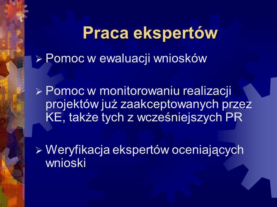 Wymagania wobec ekspertów (1) Wiedza i umiejętności z konkretnej dziedziny Odpowiednie kwalifikacje językowe