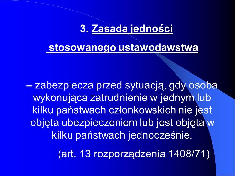 Przykład 1 Obywatel polski mieszka w Polsce i pracuje w Danii dla duńskiej firmy.