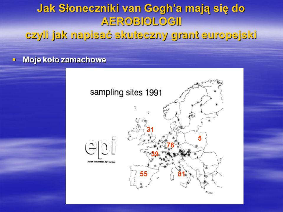 5 Jak Słoneczniki van Gogha mają się do AEROBIOLOGII czyli jak napisać skuteczny grant europejski Moje koło zamachowe Moje koło zamachowe 55 31 76 81 39