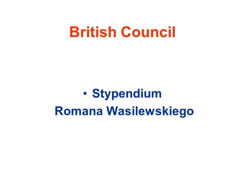 British Council Stypendium Romana Wasilewskiego