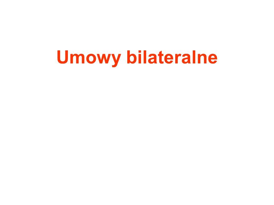 Umowy bilateralne