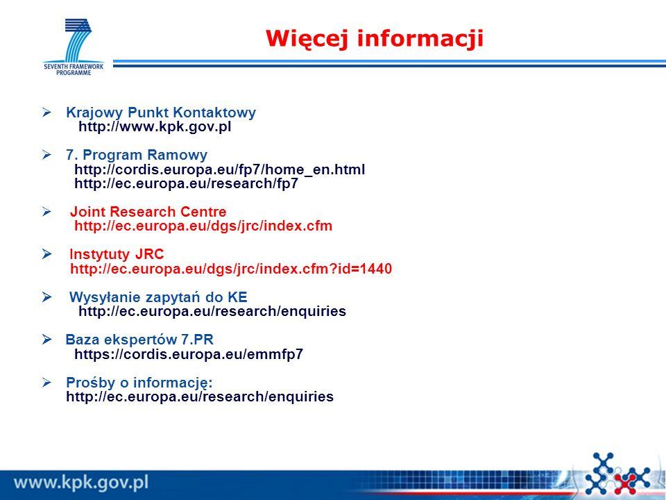 Krajowy Punkt Kontaktowy http://www.kpk.gov.pl 7.