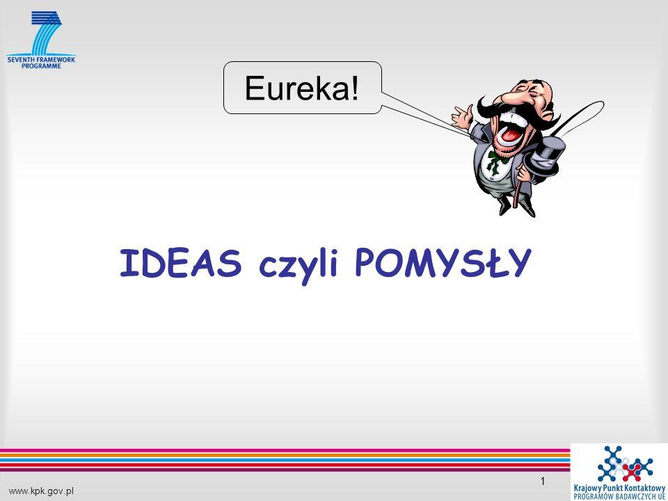 www.kpk.gov.pl 1 IDEAS czyli POMYSŁY Eureka!