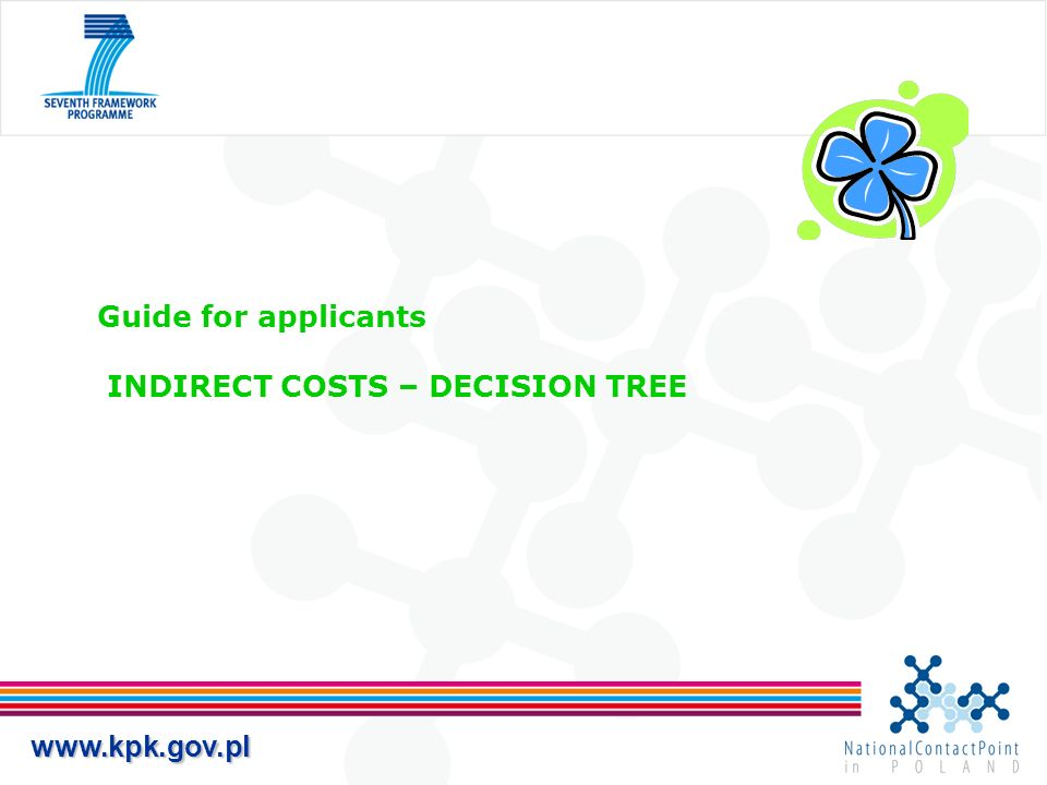 www.kpk.gov.pl Guide for applicants INDIRECT COSTS – DECISION TREE
