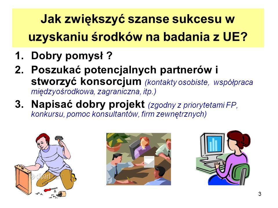3 Jak zwiększyć szanse sukcesu w uzyskaniu środków na badania z UE.