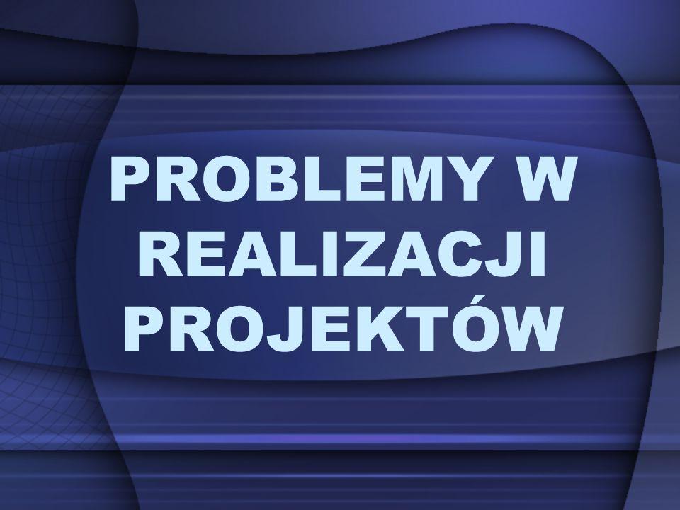 PROBLEMY W REALIZACJI PROJEKTÓW