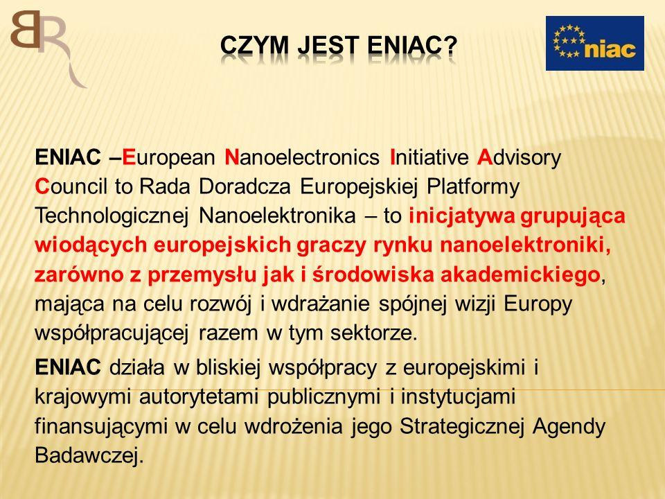 Podstawowym celem ENIAC-a jest przywrócenie Europie pozycji wiodącego gracza w dziedzinie Mikro- i Nanoelektroniki poprzez: – zdefiniowanie wspólnej wizji i rozwijanie Strategicznej Agendy Badawczej i wdrożenie tej wizji z korzyścią dla grup interesariuszy, europejskiej gospodarki i społeczeństwa jako całości; oraz – ustanowienie szkieletu mającego koordynować i integrować indiwidualne wysiłki przemysłu, organizacji badawczych, publicznych autorytetów, instytucji finansowych i innych grup interesariuszy we wdrażaniu Strategicznej Agendy Badawczej.