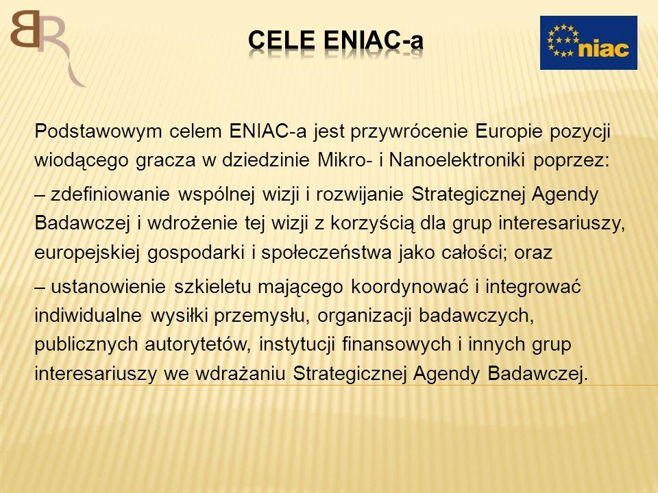 Podstawowym celem ENIAC-a jest przywrócenie Europie pozycji wiodącego gracza w dziedzinie Mikro- i Nanoelektroniki poprzez: – zdefiniowanie wspólnej w