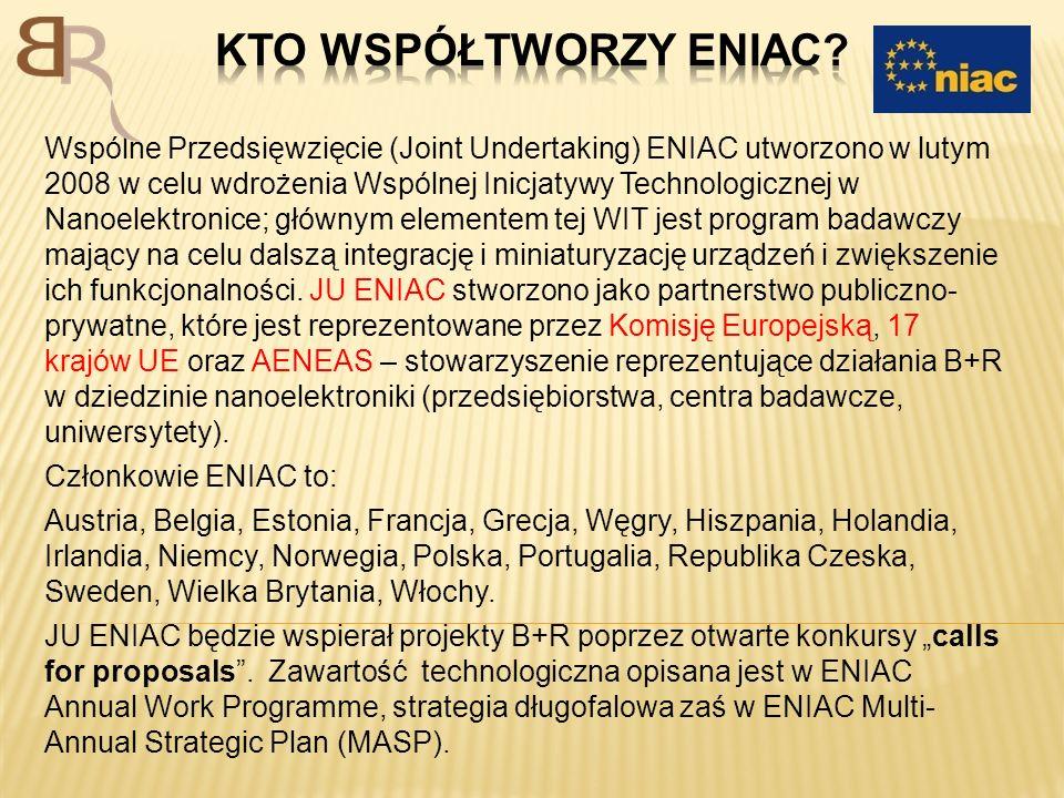 Wspólne Przedsięwzięcie (Joint Undertaking) ENIAC utworzono w lutym 2008 w celu wdrożenia Wspólnej Inicjatywy Technologicznej w Nanoelektronice; główn