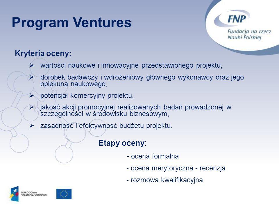 14 Kryteria oceny: wartości naukowe i innowacyjne przedstawionego projektu, dorobek badawczy i wdrożeniowy głównego wykonawcy oraz jego opiekuna nauko
