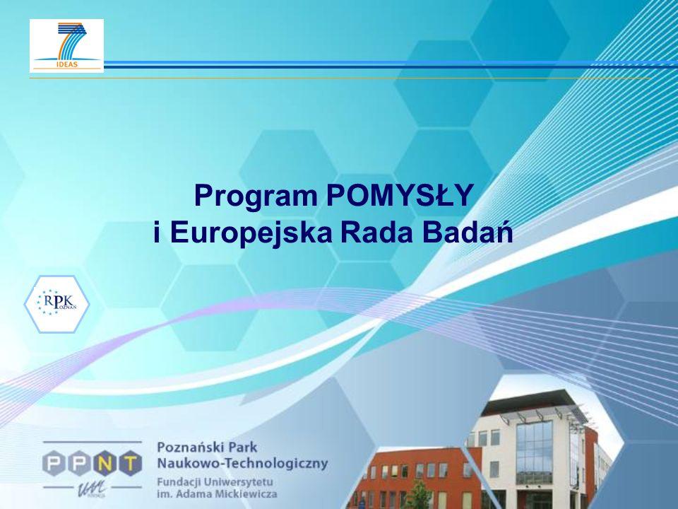 Program POMYSŁY i Europejska Rada Badań