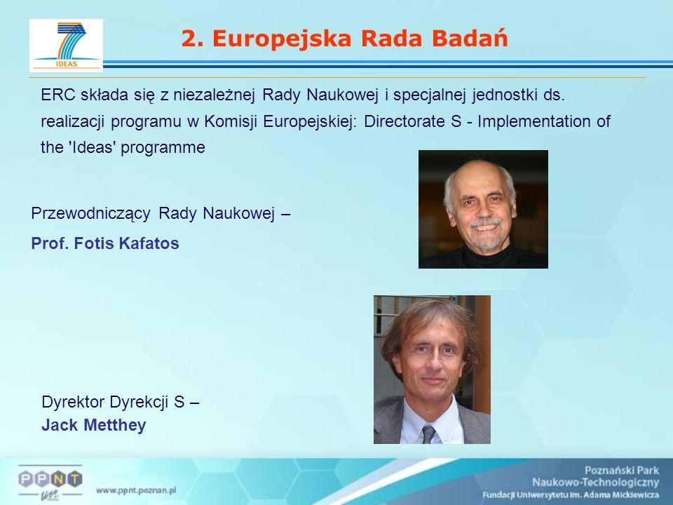 2.Europejska Rada Badań ERC składa się z niezależnej Rady Naukowej i specjalnej jednostki ds.