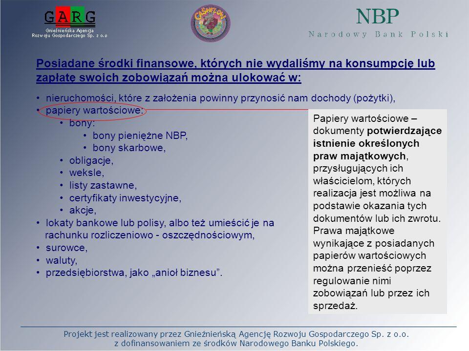 Projekt jest realizowany przez Gnieźnieńską Agencję Rozwoju Gospodarczego Sp. z o.o. z dofinansowaniem ze środków Narodowego Banku Polskiego. Posiadan