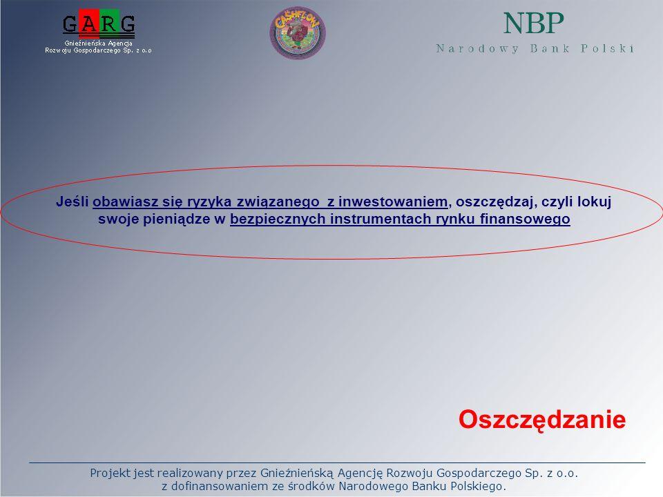 Projekt jest realizowany przez Gnieźnieńską Agencję Rozwoju Gospodarczego Sp. z o.o. z dofinansowaniem ze środków Narodowego Banku Polskiego. Jeśli ob