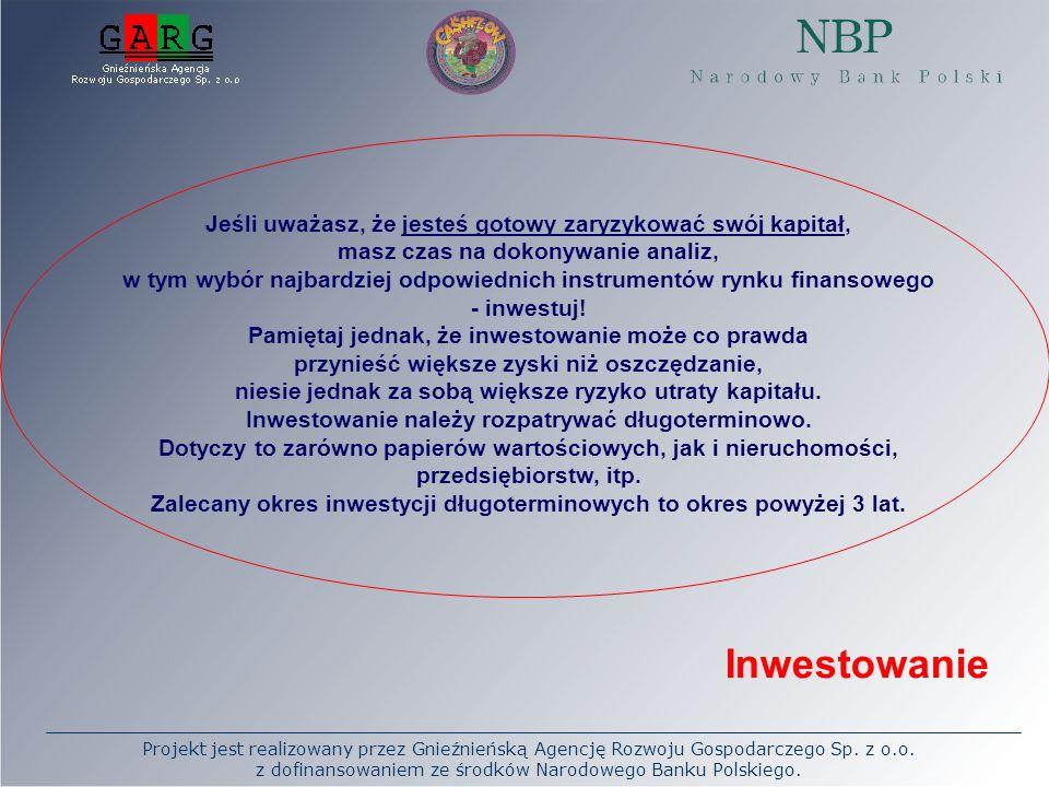 Projekt jest realizowany przez Gnieźnieńską Agencję Rozwoju Gospodarczego Sp. z o.o. z dofinansowaniem ze środków Narodowego Banku Polskiego. Jeśli uw