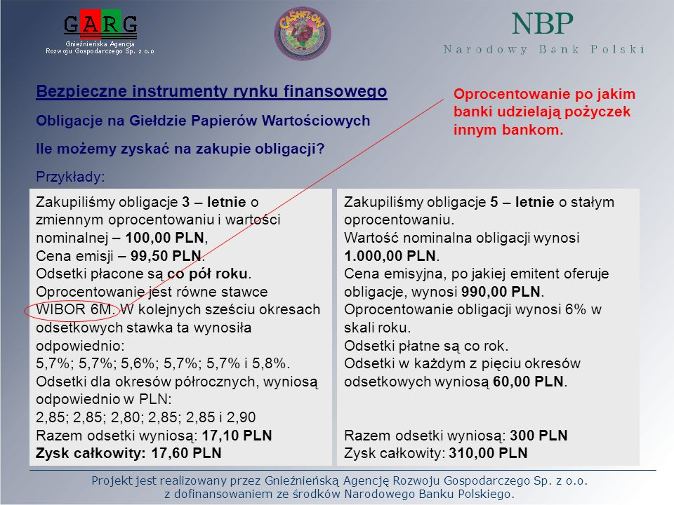 Projekt jest realizowany przez Gnieźnieńską Agencję Rozwoju Gospodarczego Sp. z o.o. z dofinansowaniem ze środków Narodowego Banku Polskiego. Bezpiecz