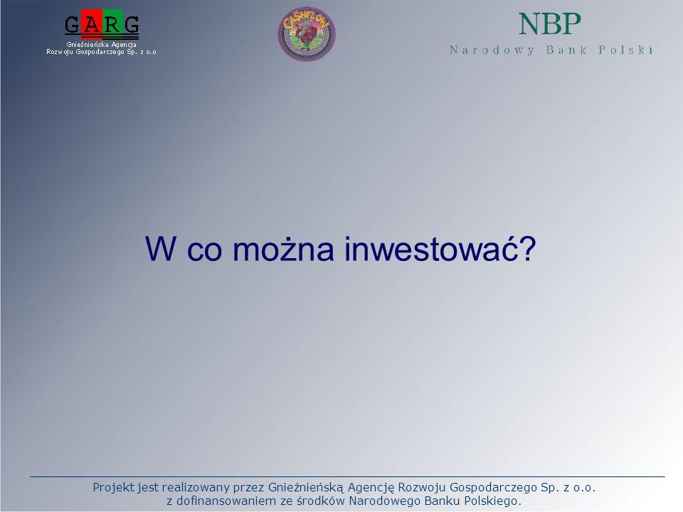 Projekt jest realizowany przez Gnieźnieńską Agencję Rozwoju Gospodarczego Sp. z o.o. z dofinansowaniem ze środków Narodowego Banku Polskiego. W co moż