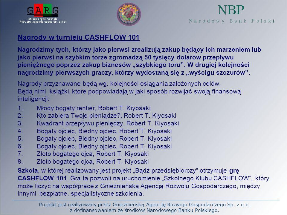 Projekt jest realizowany przez Gnieźnieńską Agencję Rozwoju Gospodarczego Sp. z o.o. z dofinansowaniem ze środków Narodowego Banku Polskiego. Nagrody