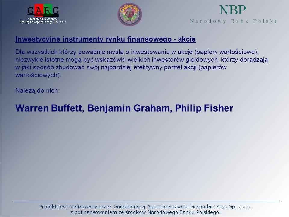 Projekt jest realizowany przez Gnieźnieńską Agencję Rozwoju Gospodarczego Sp. z o.o. z dofinansowaniem ze środków Narodowego Banku Polskiego. Inwestyc