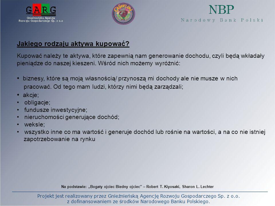 Projekt jest realizowany przez Gnieźnieńską Agencję Rozwoju Gospodarczego Sp. z o.o. z dofinansowaniem ze środków Narodowego Banku Polskiego. Na podst
