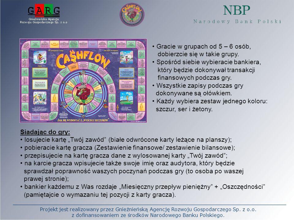Projekt jest realizowany przez Gnieźnieńską Agencję Rozwoju Gospodarczego Sp. z o.o. z dofinansowaniem ze środków Narodowego Banku Polskiego. Gracie w