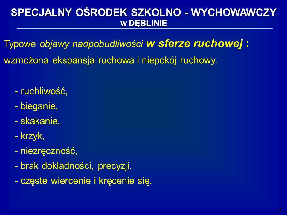 17 SPECJALNY OŚRODEK SZKOLNO - WYCHOWAWCZY w DĘBLINIE Opracowała: Jolanta Kutera