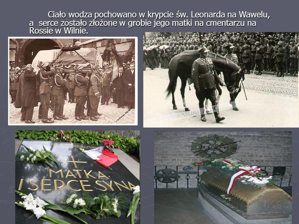 Ciało wodza pochowano w krypcie św. Leonarda na Wawelu, a serce zostało złożone w grobie jego matki na cmentarzu na Rossie w Wilnie.