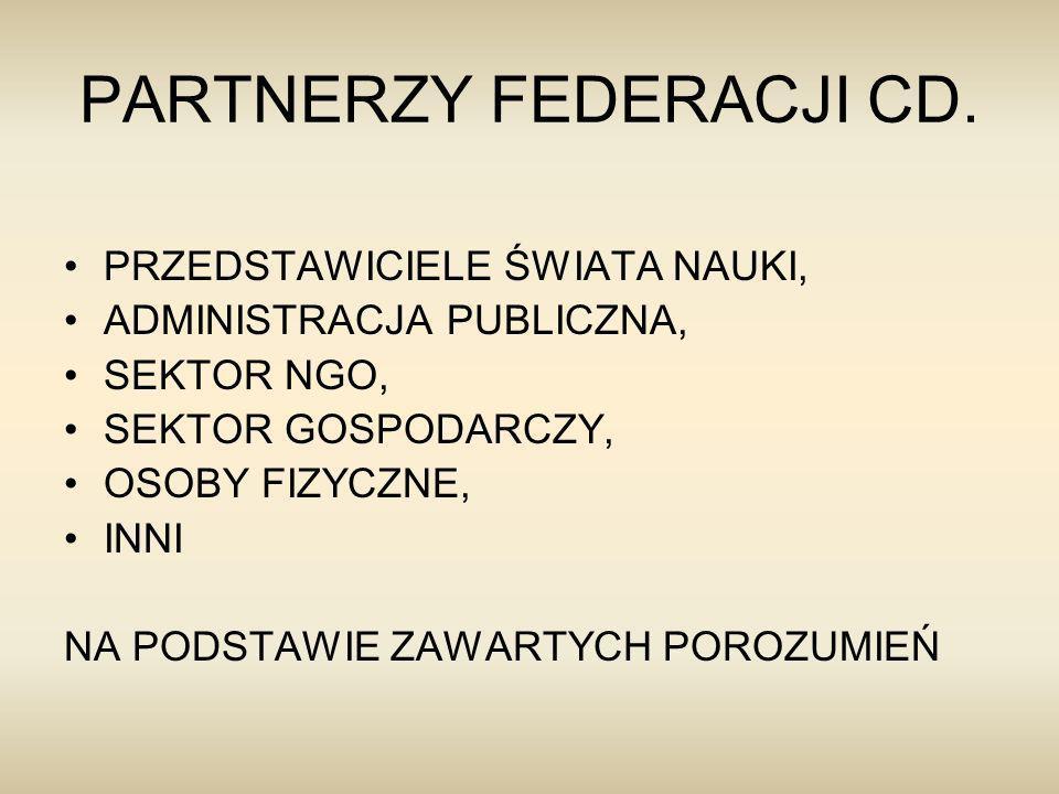 PARTNERZY FEDERACJI CD.