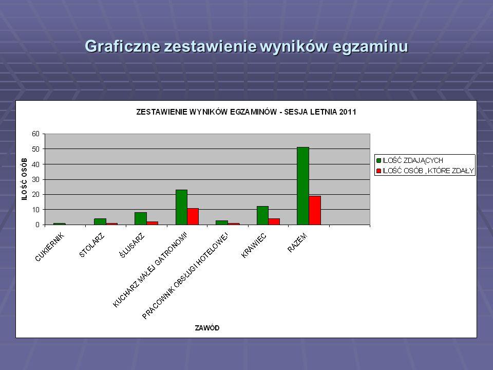 Graficzne zestawienie wyników egzaminu