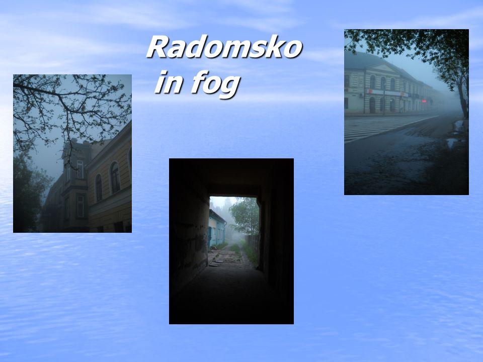 Radomsko in fog