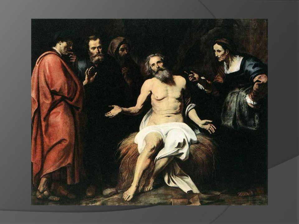 1.Jak Hiob przyjmował swoje cierpienie. 2. W kim miał oparcie podczas przeżywanego cierpienia.