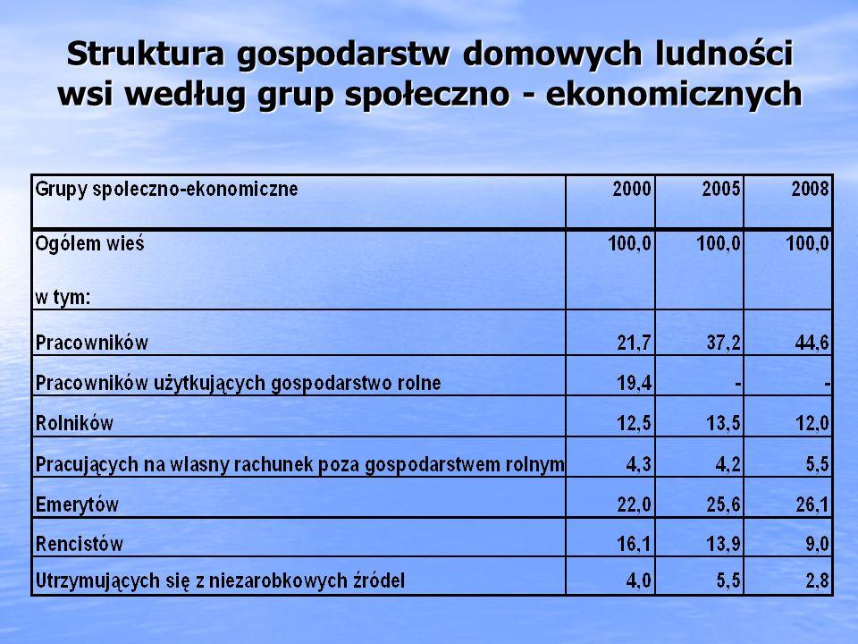 Niejednorodność populacji mieszkańców wsi Pod względem społeczno-ekonomicznej struktury gospodarstw domowych Pod względem społeczno-ekonomicznej struk