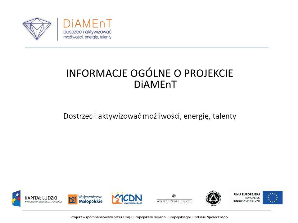 Projekt współfinansowany przez Unię Europejską w ramach Europejskiego Funduszu Społecznego Część I - Wspólne spotkanie z uczniami i rodzicami wypracowanie i wdrożenie systemowych rozwiązań programowych i organizacyjnych służących wspieraniu rozwoju uzdolnień uczniów w zakresie kompetencji kluczowych w obszarach: * twórczego myślenia (klasy 1-3 szkoły podstawowej), * technologii informacyjno - komunikacyjnej, * języka angielskiego, * przedsiębiorczości, * matematyki (klasy 4-6 szkoły podstawowej, gimnazjum, szkoła ponadgimnazjalna), CEL PROJEKTU