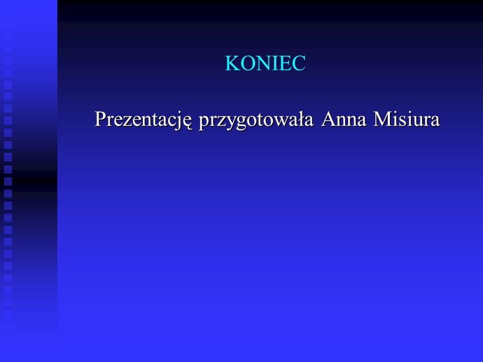 KONIEC Prezentację przygotowała Anna Misiura